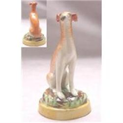Stafforshire Pottery Figure Of A Greyhound #2390038