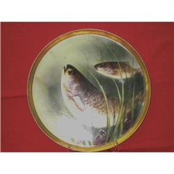 Beautiful hand painted Limoge plate with Fish #2390067
