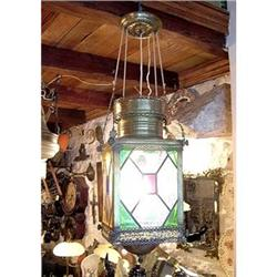 Vitrail Colonial Lamp from 19th Century #2390085