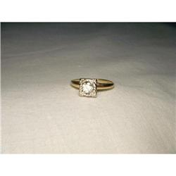 14K WG Gold Solitaire Diamond Engagement Ring #2390104