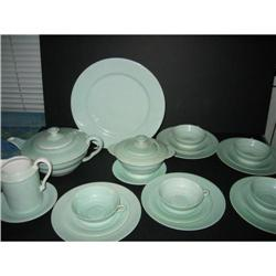 Limoges Tee set for four Sea green color #2390461