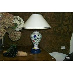 French Faience Lamp  #2390519