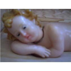WAX BABY JESUS, MUSIC BOX, RELIGIOUS, RELIGION #2391138