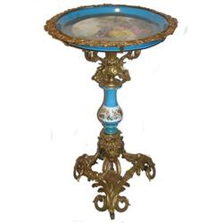 Antique French Sevres Style Porcelain Table #2381643