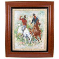 HOLESCH American Rodeo Horses Painting #2382052