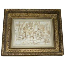 French School Roman Bacchanale Painting #2382076