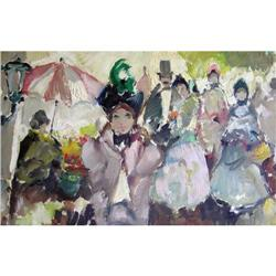French Impressionist Paris Figural Painting #2382082