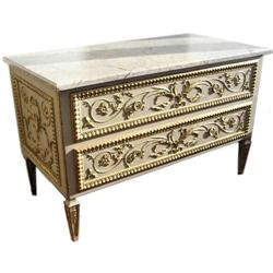 Italian Repro Neoclassical Marble Commode #2382153