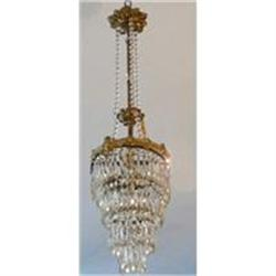 Bronze and Crystal Chandelier Fixture #2382308