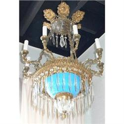 Antique Crystal Chandelier Fixture #2382313