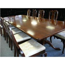 Mahogany Triple Pedestal Dining Table #2382315