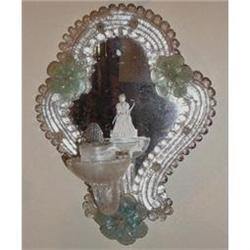 Pair of Mirrored Venetian Murano Glass Sconces #2382316
