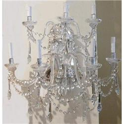 Pair of  Monumental Crystal Sconces #2382317