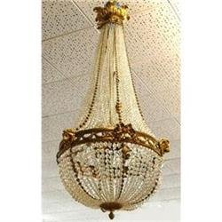 Antique French Beaded Crystal Chandelier #2382326