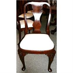 Antique Set of Eight Mahogany Dining Chairs #2382328