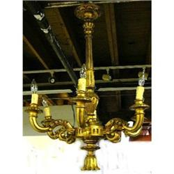 Antique Carved Giltwood Chandelier #2382334
