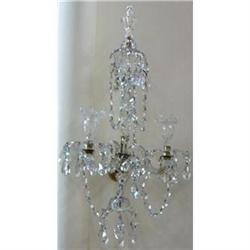 Pair of Crystal Sconces Wall Lights #2382454