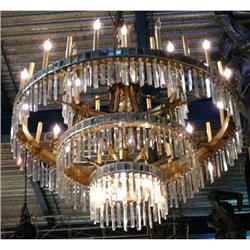Monumental Antique Crystal Chandelier #2382456