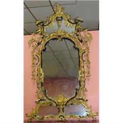 Monumental Giltwood Chippendale Mirror #2382470