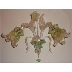 Pair of Murano Glass Sconces Wall Lights #2382471