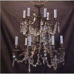 FRENCH  CRYSTAL CHANDELIER W/TWELVE ARMS #2382476