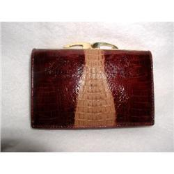 Leather French Wallet Two Tone Women's Vintage #2366508