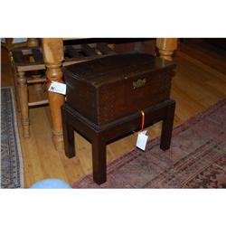 Antique Box on Stand, c. 1850 #2394244