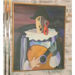 The Singing clown ,oil painting by Carbajal #2394250