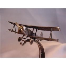 Antique Austro-Hungarian Sterling Biplane Watch#2394258