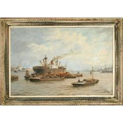 Boats on the River Shore painting Welters #2394262