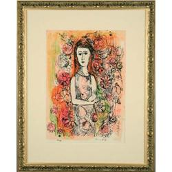 Contemporary Abstracted Figure Watercolor Paint#2394274