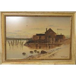 By the Sea signed Puddefoot maritime painting #2394277