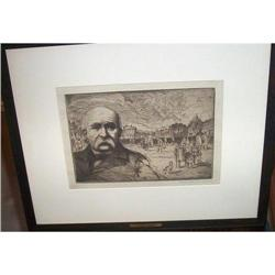 Bernhardt Wall Etching of Georges Clemenceau #2394391