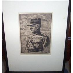 Bernhardt Wall Etching of Marshall Foch #2394392