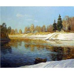 """Spring River"" - Russian traditions school #2394412"