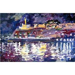 """Night Kalimagdan"" oil in impressionism style #2394420"