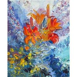 """""""Lilies""""oil in impressionism style. #2394441"""