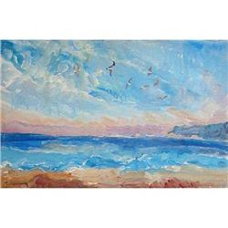 """""""Varna. The Seagull"""" oil in impressionism #2394443"""