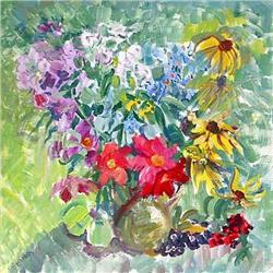 """""""Autumn bouquet"""" oil in impressionism style. #2394446"""