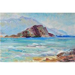 """""""St. Peter Island"""" oil in impressionism style. #2394448"""