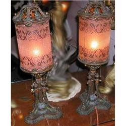 Stencil Glass Table Lamps #2394461