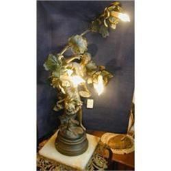 Newel Post Lamp by Moreau #2394467
