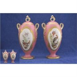 Pair of Coalport Ovoid Pedestal Vases #2394592