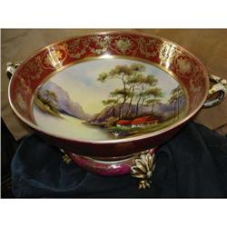 Nippon hand painted centerbowl on stand #2394753