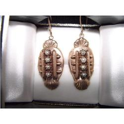 Victorian Antique Rose Gold Seed Pearl Earrings#2394754