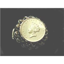 American Dollar Coin Gold Ring #2394766