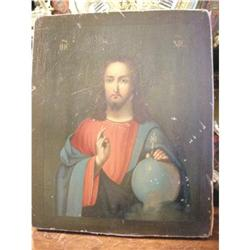 Antique Russian Icon of Christ #2394768