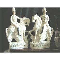 Pr. Magnificent Mounted Staffordshire Figures #2394769