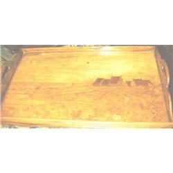 GALLE GALLERIED MARQUETRY TRAY C. 1890 #2394775