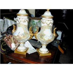 Pair of Sevres Pattern Covered Urns #2394779